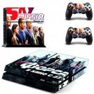 fast and furious five ps4 skin decal for console and controllers