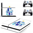 olympique de marseille ps4 skin decal for console and controllers