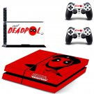 deadpool ps4 skin decal for console and controllers