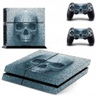 pixel skull ps4 skin decal for console and controllers