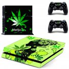 marijuana ps4 skin decal for console and controllers