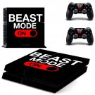 beast mode ps4 skin decal for console and controllers