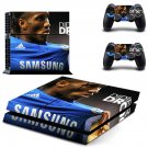 didier drogba ps4 skin decal for console and controllers