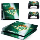 real betis balompie ps4 skin decal for console and controllers