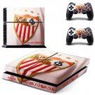 sevilla football club ps4 skin decal for console and controllers