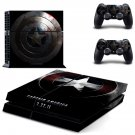 captain america ps4 skin decal for console and controllers