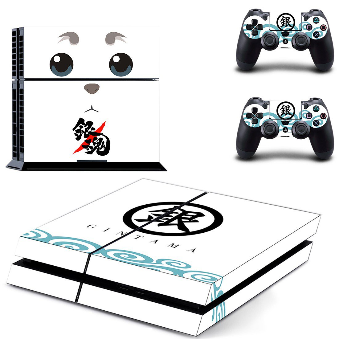 gintama ps4 skin decal for console and controllers