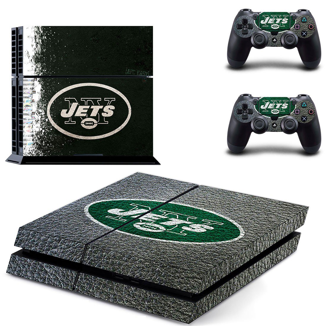 new york jets ps4 skin decal for console and controllers
