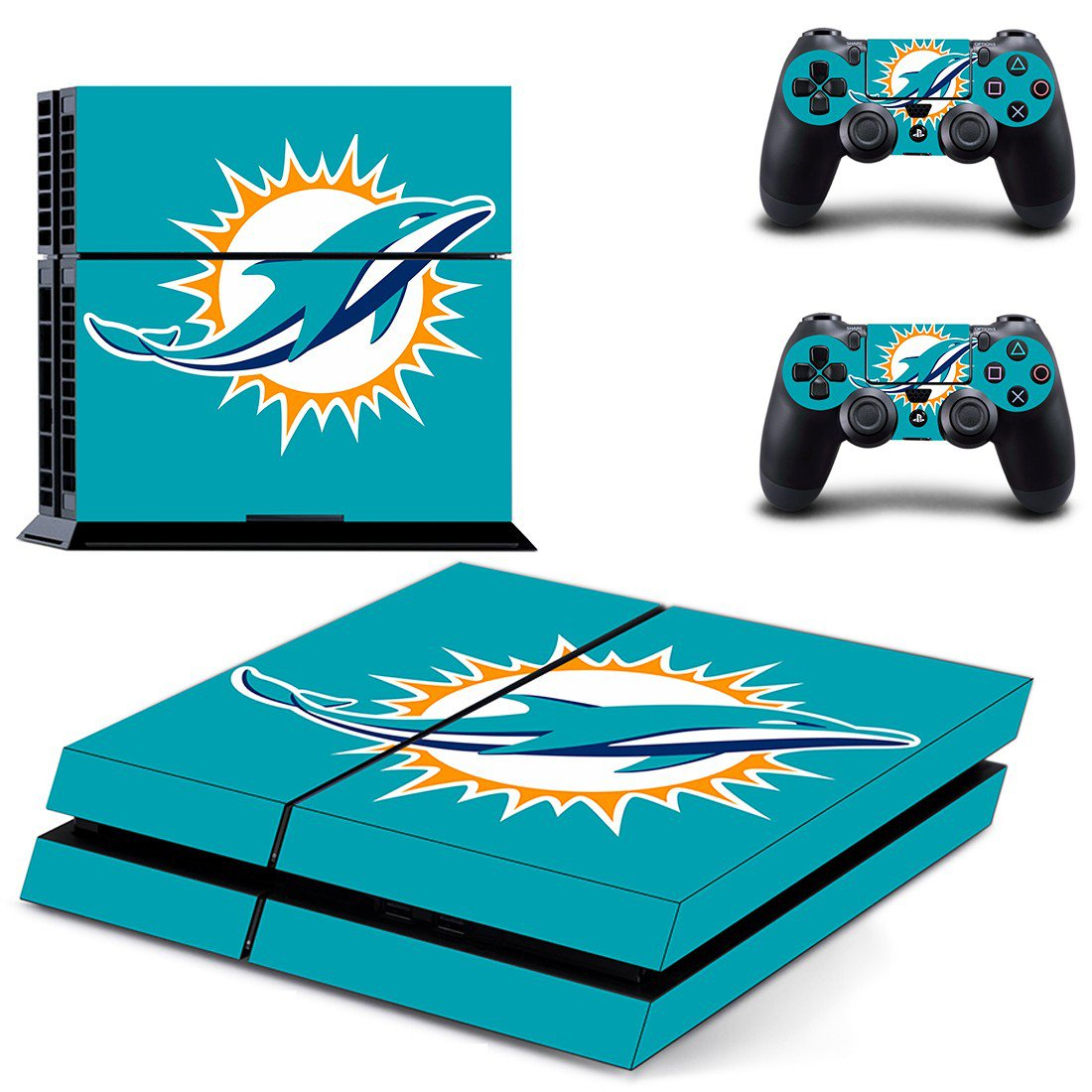 Dolphins miami ps4 skin decal for console and controllers