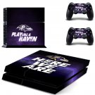 baltimore ravens ps4 skin decal for console and controllers