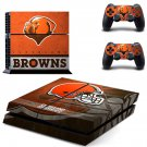 cleveland browns ps4 skin decal for console and controllers