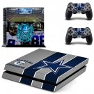 dallans cowboys ps4 skin decal for console and controllers