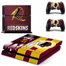washington redskins ps4 skin decal for console and controllers