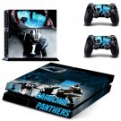 carolina panthers ps4 skin decal for console and controllers