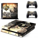 new orleans saints ps4 skin decal for console and controllers