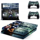 seattle seahawks ps4 skin decal for console and controllers