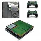 Play Station 4 slim skin decal for console and 2 controllers