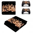 nude girls design Play Station 4 slim skin decal for console and 2 controllers