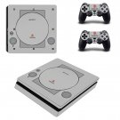 PS logo design Play Station 4 slim skin decal for console and 2 controllers