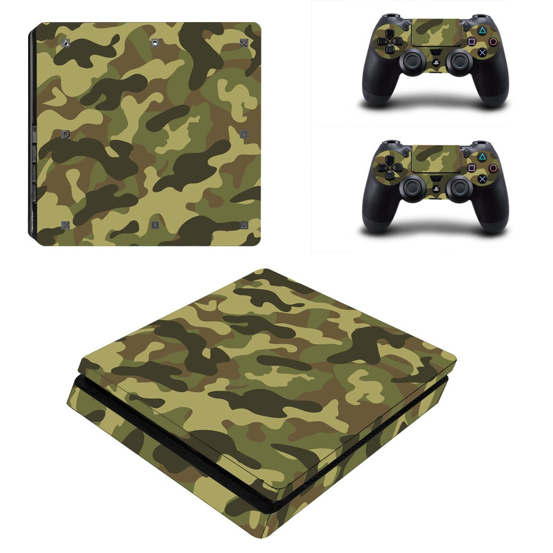 Army design play station 4 slim skin decal for console and for Housse manette ps4