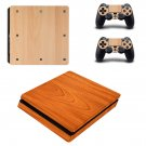 wooden design Play Station 4 slim skin decal for console and 2 controllers