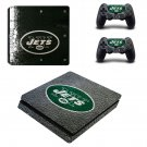 New York Jets Play Station 4 slim skin decal for console and 2 controllers