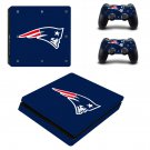 New England Patriots Play Station 4 slim skin decal for console and 2 controllers