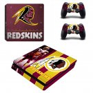 Washington Redskins Play Station 4 slim skin decal for console and 2 controllers