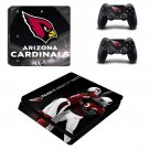 Arizona Cardinals Play Station 4 slim skin decal for console and 2 controllers