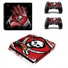 Tampa Bay Buccaneers Play Station 4 slim skin decal for console and 2 controllers