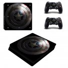 Captain America Play Station 4 slim skin decal for console and 2 controllers