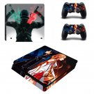 Sword Art Online Play Station 4 slim skin decal for console and 2 controllers