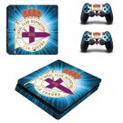 Real Club Deportivo Play Station 4 slim skin decal for console and 2 controllers