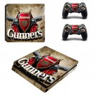 Arsenal Gunners Play Station 4 slim skin decal for console and 2 controllers