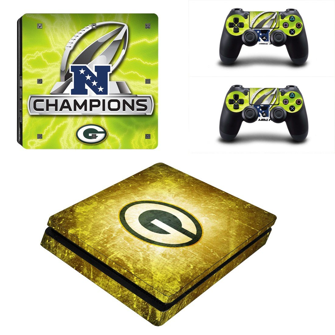NFC Champions Logo Play Station 4 slim skin decal for console and 2 controllers