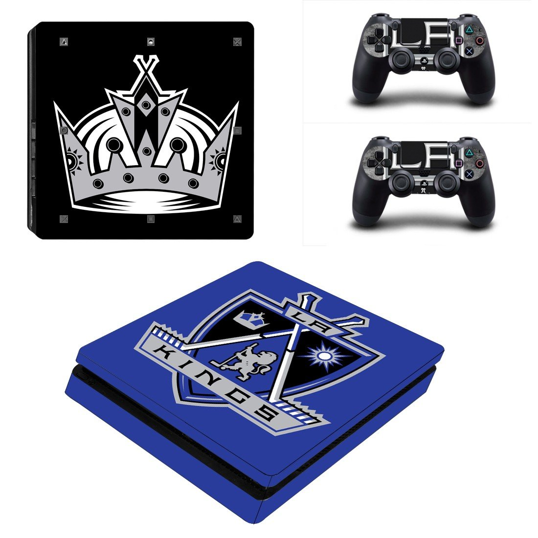 Los Angeles Kings Play Station 4 slim skin decal for console and 2 controllers