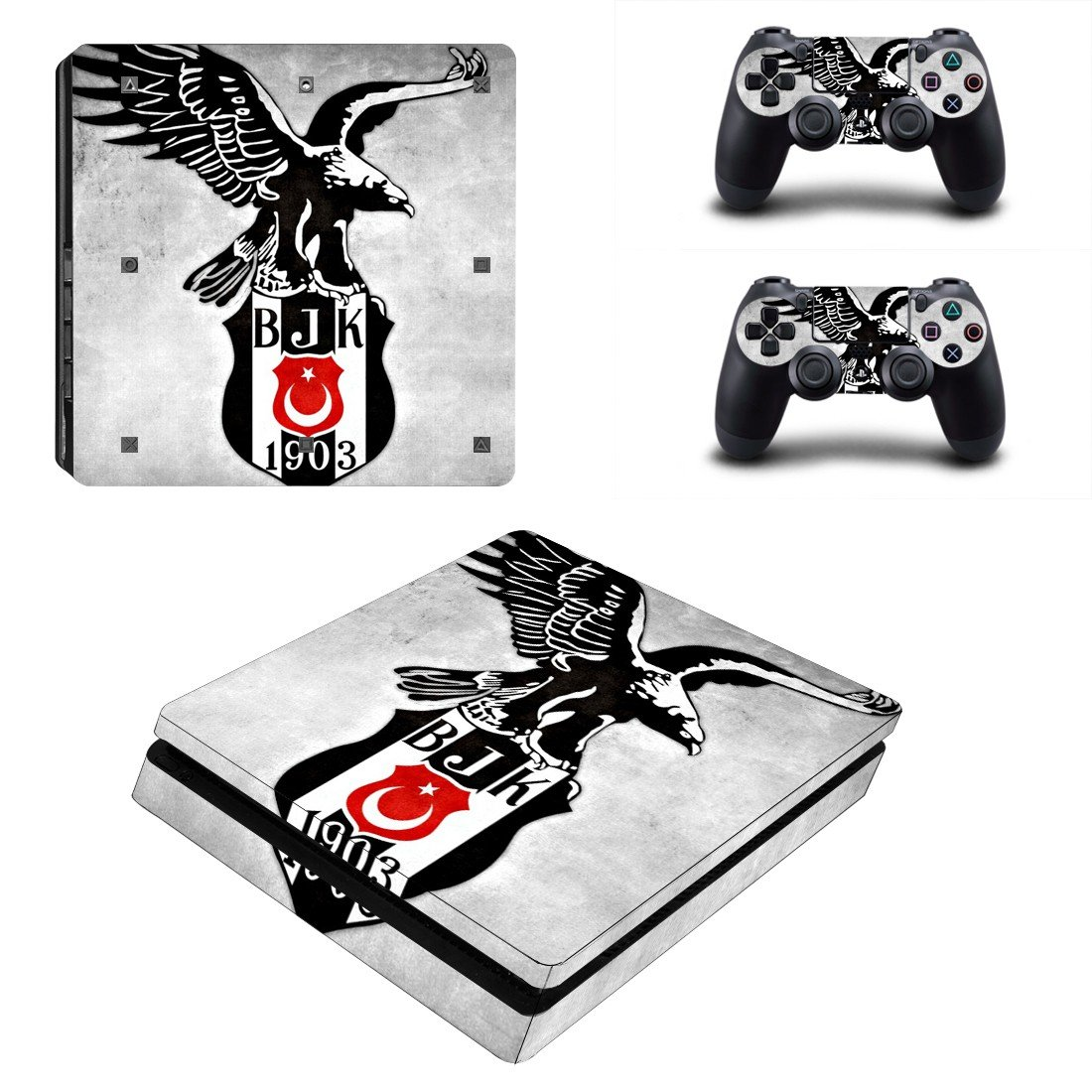 Be�ikta� J.K Play Station 4 slim skin decal for console and 2 controllers