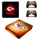 Kansas City Chiefs Play Station 4 slim skin decal for console and 2 controllers