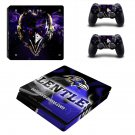 Baltimore Ravens Play Station 4 slim skin decal for console and 2 controllers