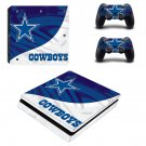Dallas Cowboys Play Station 4 slim skin decal for console and 2 controllers