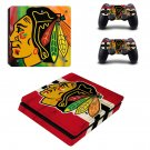 Chicago Blackhawks Play Station 4 slim skin decal for console and 2 controllers