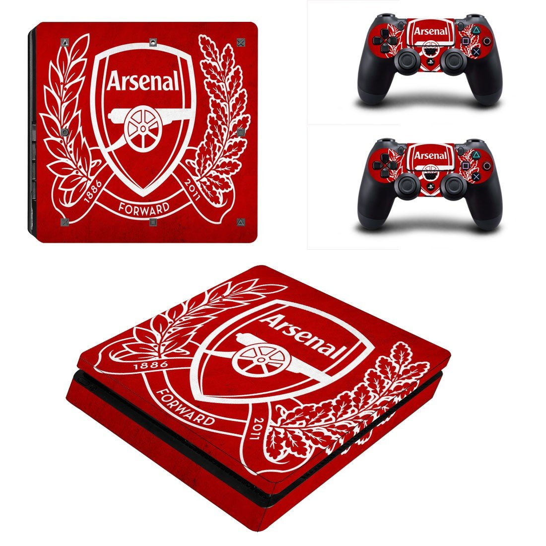 Arsenal F.C. Play Station 4 slim skin decal for console and 2 controllers