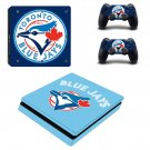 toronto blue jays skin decal for ps4 slim console and 2 controllers