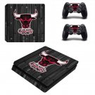 Windy City Bulls Play Station 4 slim skin decal for console and 2 controllers