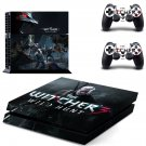 The Wticher Wild hunt ps4 skin decal for console and controllers