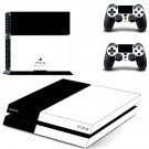 Black White color ps4 skin decal for console and controllers