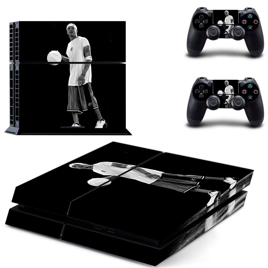 Allen Iverson ps4 skin decal for console and controllers