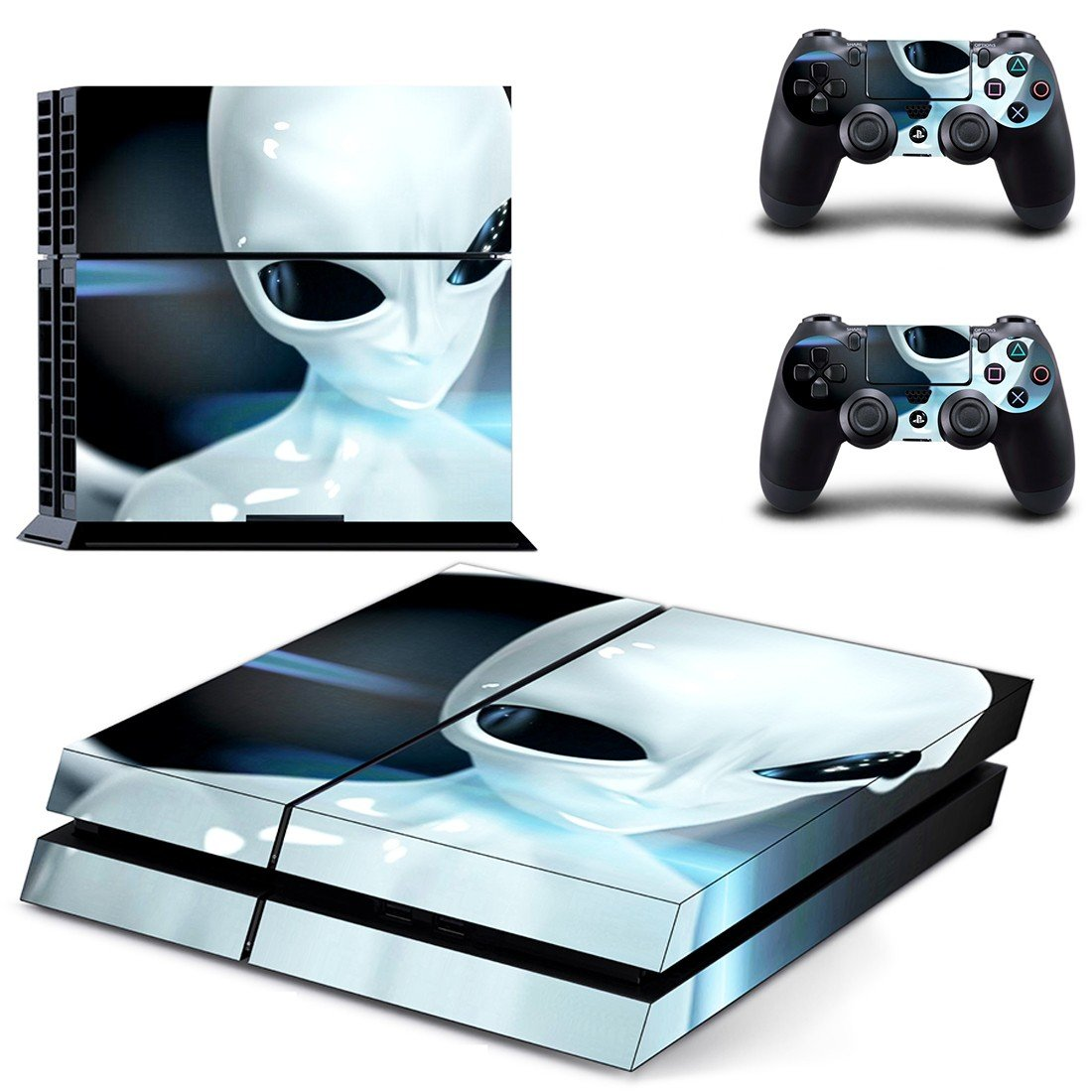 Real alien news ps4 skin decal for console and controllers
