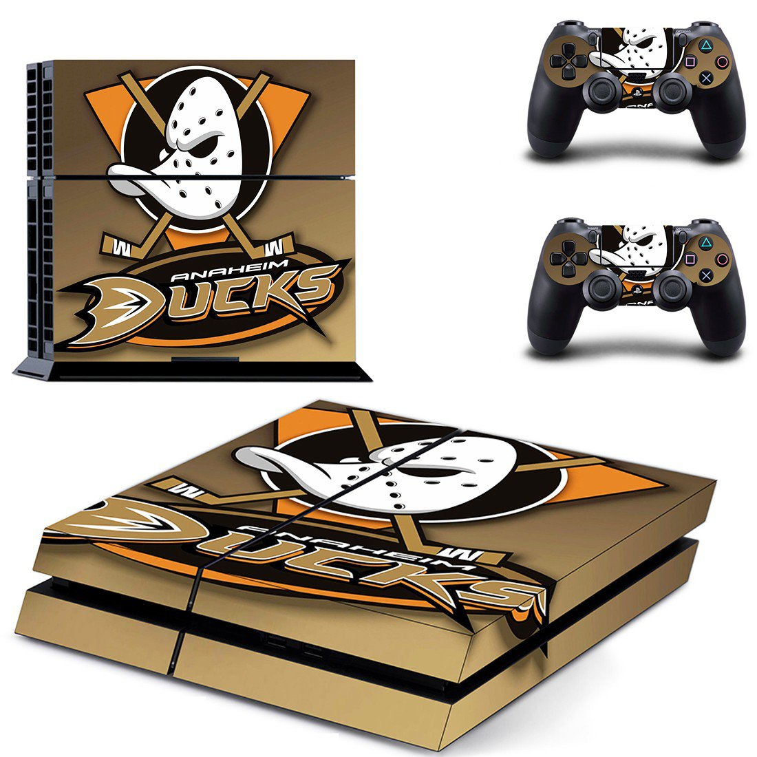Anaheim Ducks ps4 skin decal for console and controllers