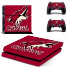 Arizona Coyotes ps4 skin decal for console and controllers